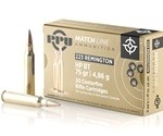 Prvi Partizan Match Ammo 223 Remington 75 Grain HP BT