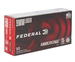 Federal American Eagle 9mm Luger Ammo 115 Grain Ammo FMJ