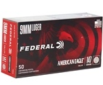 Federal American Eagle 9mm Luger Ammo 147 Grain FMJ