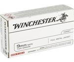 Winchester USA 9mm NATO 124 Grain FMJ