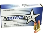 Independence 380 ACP AUTO Ammo 90 Grain Full Metal Jacket
