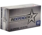 Independence 38 Special Ammo 130 Grain Full Metal Jacket