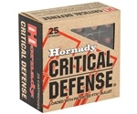 Hornady Critical Defense 380 ACP AUTO Ammo 90 Grain FTX