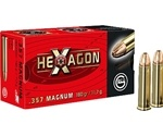 Geco Hexagon 357 Magnum Ammo 180 Grain Jacketed Hollow Point