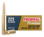Federal 223 Remington Ammo 80 Grain Sierra MatchKing Hollow Point