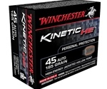 Winchester Kinetic High Energy 45 ACP Auto Ammo 185 Grain JHP