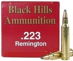 Black Hills 223 Remington Ammo 52 Grain Match Hollow Point