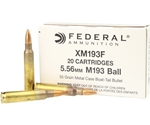 Federal Lake City 5.56mm NATO M193 Ammo 55 Grain FMJ BT