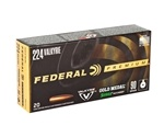 Federal Gold Medal 224 Valkyrie Ammo 90 Gr Sierra MatchKing