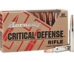 Hornady Critical Defense 223 Remington Ammo 55 Grain FTX