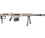 """Barrett M107 A1 50 BMG Semi-Auto Rifle 20"""" Fluted Barrel 10+1 Rounds Fixed Flat Dark Earth Stock Flat Dark Earth/Black"""