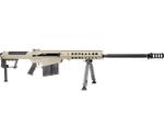"""Barrett M107 A1 50 BMG Semi-Auto Rifle 29"""" Fluted Barrel 10+1 Rounds Fixed Flat Dark Earth Stock Flat Dark Earth/Black"""