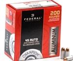 Federal Champion Aluminum 45 ACP AUTO Ammo 230 Grain FMJ
