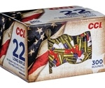 CCI Patriot Pack 22 Long Rifle Ammo 40 Grain Red White Blue Coated Box of 300