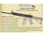 Wolf A1 223/5.56 AR-15 Complete Gas Piston Upper Receiver 12 Inch Barrel