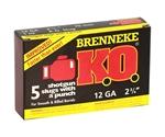 """Brenneke USA K.O. 12 Gauge Ammo 2-3/4"""" 1 oz Foster-Type Slug"""