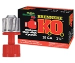 """Brenneke USA K.O. 20 Gauge Ammo 2-3/4"""" 7/8 oz Slug"""