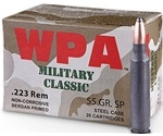 Wolf Military Classic 223 Remington 55 Grain JSP Steel Case