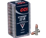 CCI Stinger 22 Long Rifle Ammo 32 Grain Copper Plated Hollow Point