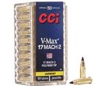 CCI 17 Hornady Mach 2 Ammo 17 Grain Hornady V-Max