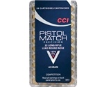 CCI Pistol Match 22 Long Rifle 40 Grain Lead Round Nose