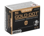 Speer Gold Dot 357 SIG Ammo 125 Grain Jacketed Hollow Point