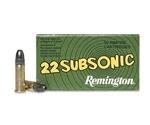 Remington Subsonic 22 Long Rifle Ammo 38 Grain Hollow Point