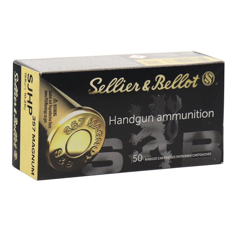 Sellier & Bellot 357 Magnum Ammo 158 Grain SJHP
