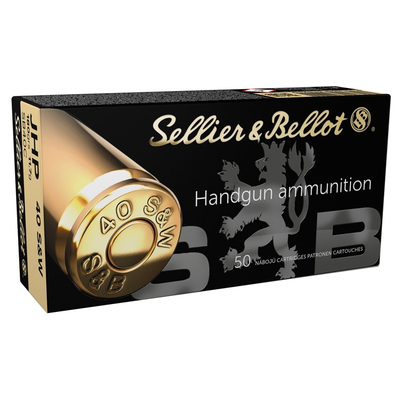 Sellier & Bellot 40 S&W Ammo 180 Grain Jacketed Hollow Point