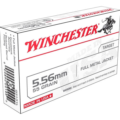 Winchester Lake City 5.56x45mm NATO Ammo 55 Grain Full Metal Jacket