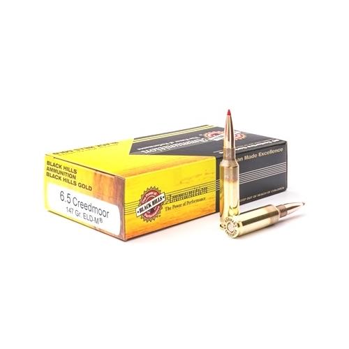 Black Hills Gold 6.5 Creedmoor Ammo 147 Grain ELD-M