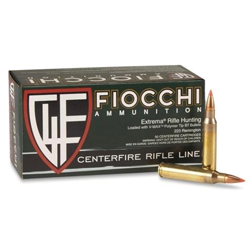 Fiocchi Extrema 223 Remington 55 Grain Hornady V-Max