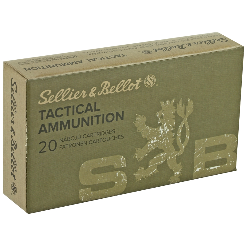 Sellier & Bellot 308 Winchester Ammo 147 Grain FMJ