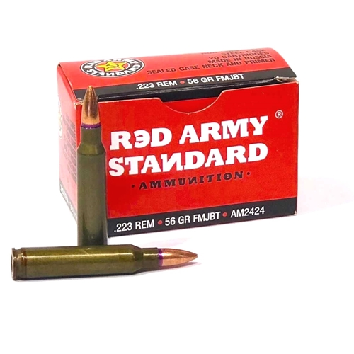 Red Army Standard 223 Remington Ammo 56 Grain FMJ Steel Case