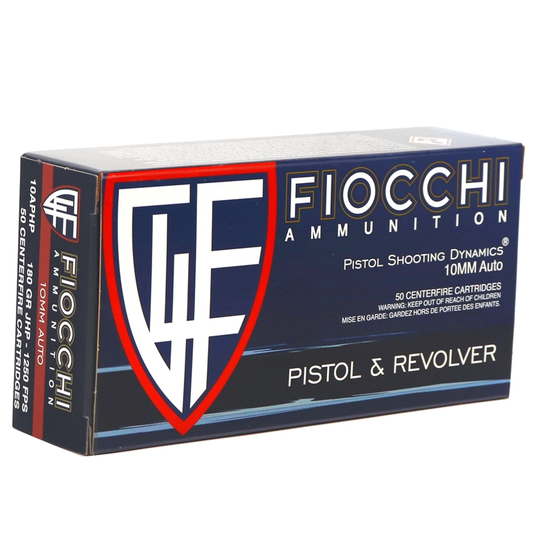 Fiocchi Shooting Dynamics 10mm AUTO Ammo 180 Grain JHP