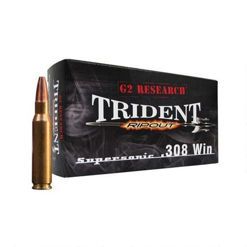 G2R RIP Ammunition 308 Winchester Ammo 150 Grain Expanding Solid Copper Lead-Free