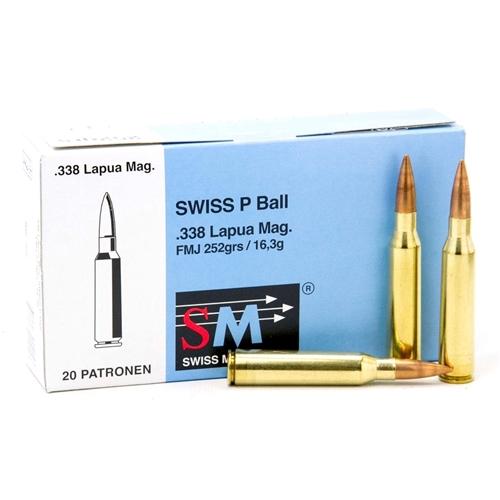 Ruag Swiss P 338 Lapua Magnum Ball Ammo 252 Grain Full Metal Jacket