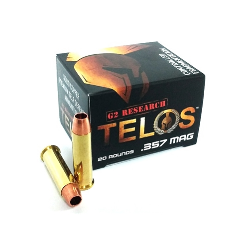 G2R Telos 357 Magum Ammo 105 Grain Hollow Point Solid Copper