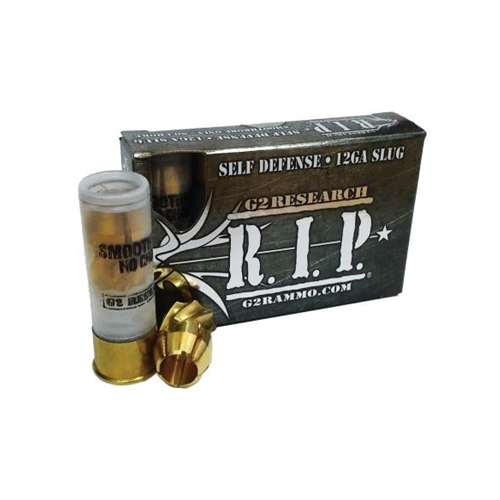 "G2R RIP 12 Gauge 2-3/4"" Ammo 303 Grain Fragmenting Solid Copper Lead-Free Slug"