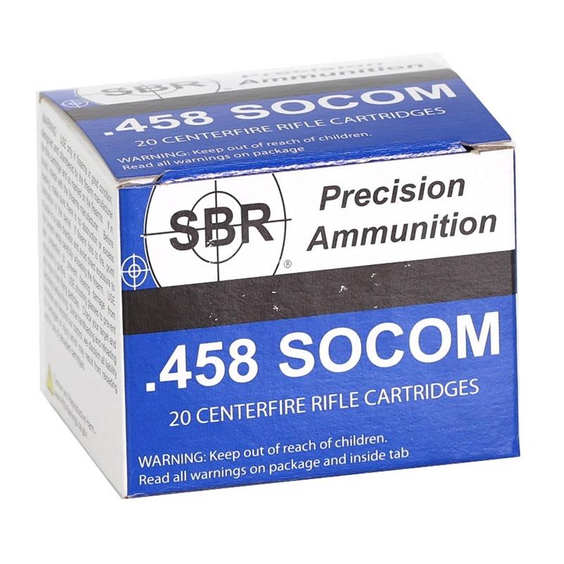 SBR 458 SOCOM Ammo 300 Grain Barnes TTSX Polymer Tipped Spitzer Lead-Free