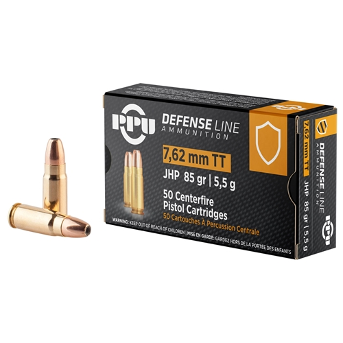 Prvi Partizan 7.62x25mm Ammo 85 Grain Jacketed Hollow Point