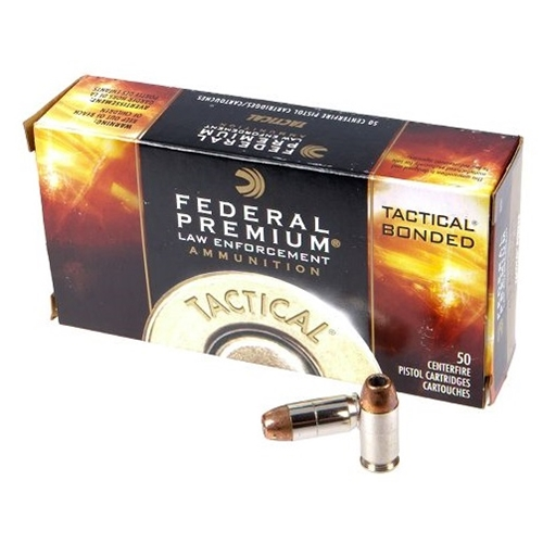 Federal Law Enforcement 45 ACP AUTO Ammo 230 Grain +P Tactical Bonded Hollow Point