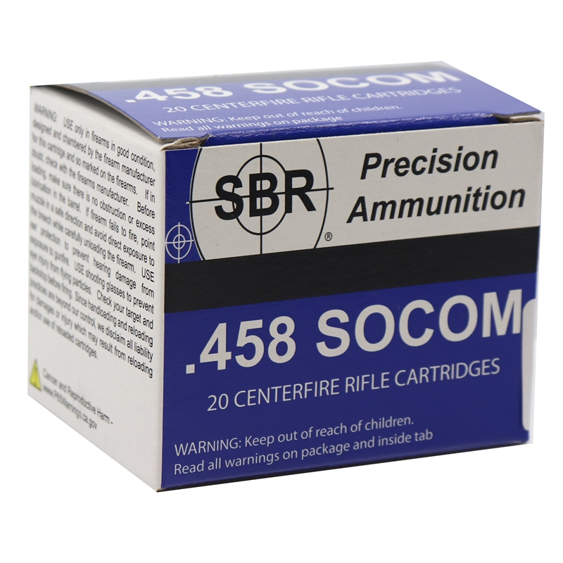 SBR 458 SOCOM Ammo 350 Grain Barnes Triple-Shock X Bullet Hollow Point Lead-Free