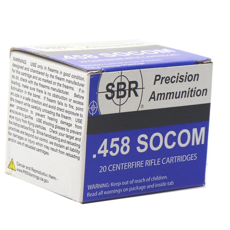 SBR 458 SOCOM Ammo 450 Grain Full Metal Jacket