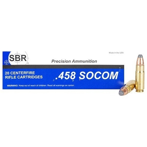 SBR 458 SOCOM Ammo 400 Grain Jacketed Soft Point