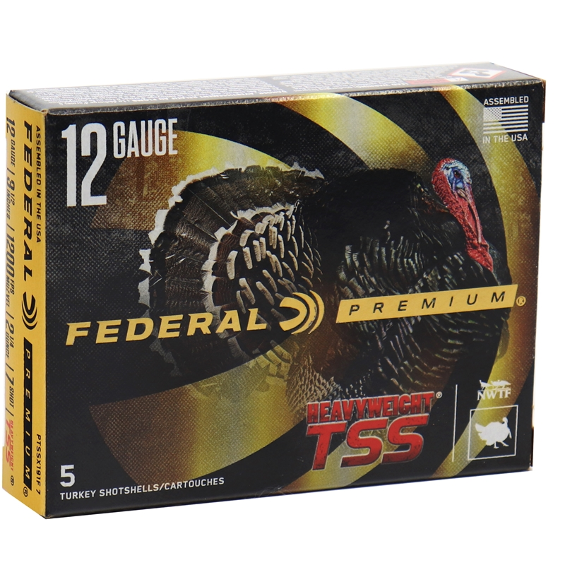 "Federal Premium HEAVYWEIGHT TSS 12 Gauge Ammo 3.5"" 2-1/4 oz #7 Shot"