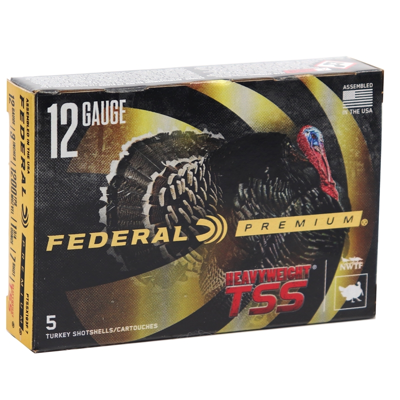 "Federal Premium HEAVYWEIGHT TSS 12 Gauge Ammo 3"" 1-3/4 oz #7 Shot - PTSSX193F7"