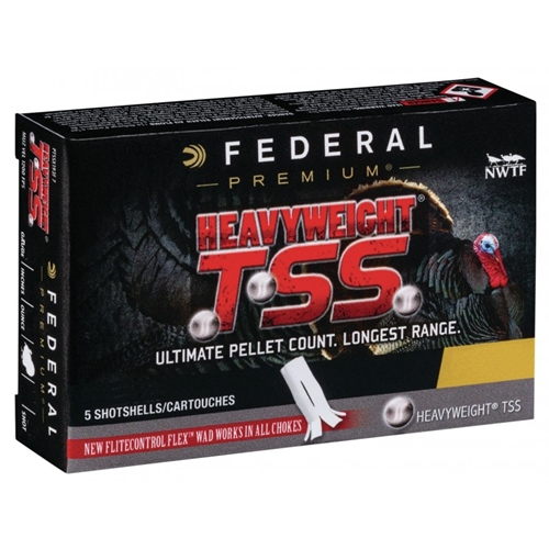 "Federal Premium HEAVYWEIGHT TSS 20 Gauge Ammo 3"" 1 1/2oz, #9 Turkey Load"