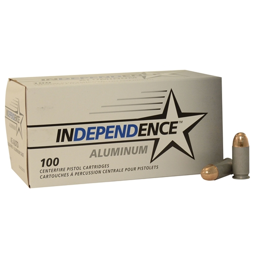 Independence Aluminum 45 ACP AUTO Ammo 230 Grain Full Metal Jacket