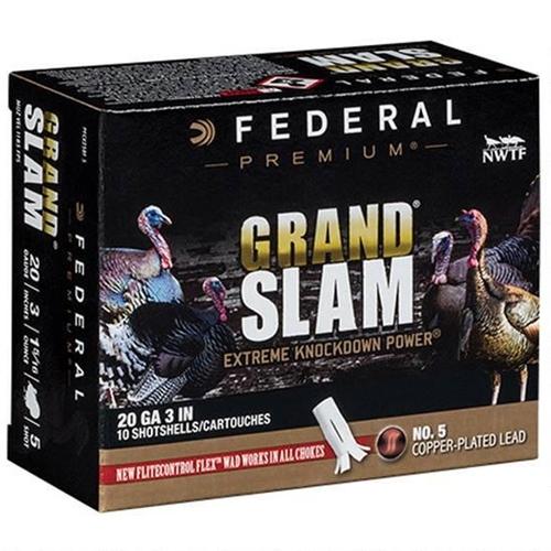 """Federal Grand Slam Turkey 20 Gauge 3"""" 1-5/16 oz 5 Shot Flightcontrol Flex Wad"""